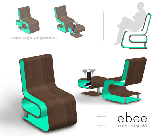 kooma design : Ebee, Lounger / Table